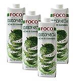[ 4 x 1 Literl ] FOCO Sauersack Getränk / Soursop Nectar / Néctar de Guanabana + ein kleines Glückspüppchen - Holzpüppchen