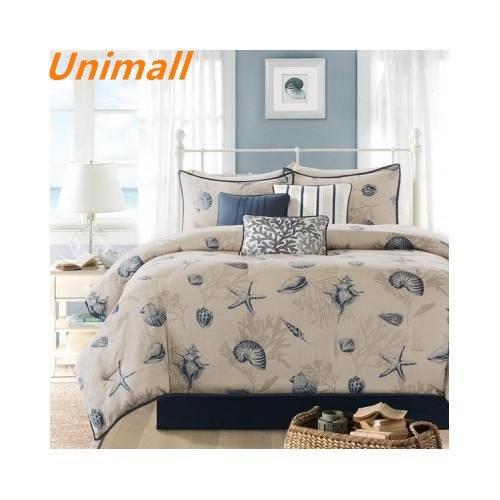 Unimall set trapunta estiva in puro cotone con due federe per letto matrimoniale 2 piazze double face
