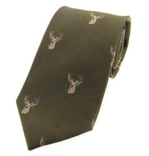 soprano-pais-verde-cabeza-de-ciervo-pais-tejida-corbata-de-seda