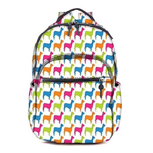 Snoogg Cant Get Enough Of Dogs Printed Vintage Durable Canvas Satchel Backpack Tablet Rucksack Shoulder School Gym Book Bag Travel Hiking Bag Gift for Teenage Girls/Boys (Blue)