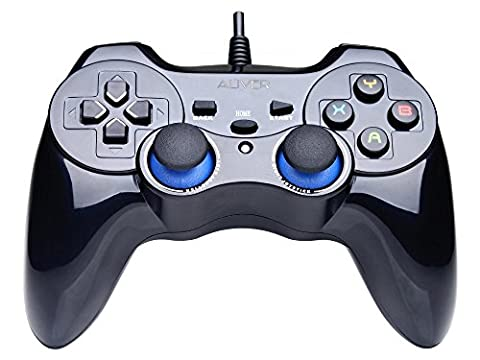ALIVER USB PC Computer Vibration Wired Game Controller Gamepad Joystick