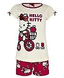 Ragazze Hello Kitty Pigiama Cotone Abito Completo Top E Pantaloncini Bambini Pigiama Da Notte - cotone, Pezzo Set, 100% cotone, Unisex bambini, 2-3 Years