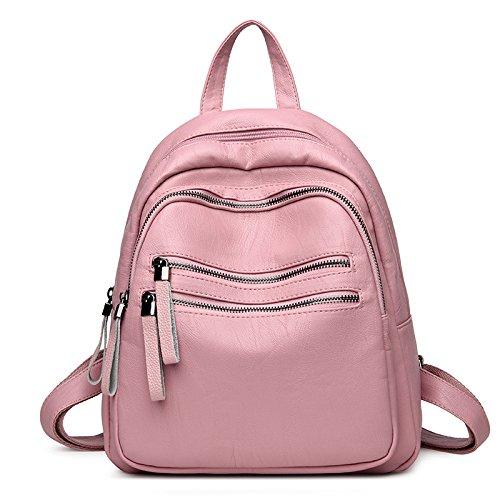 Syknb Shoulder Bag, Casual Backpack, Simple Travel, Shoulder Bag,Violet Pink