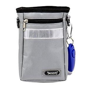 Ltuotu Dressage d'animaux sac de taille candy / boîte à gants clicker formation animal sac d'obéissance de traiter avec un clicker pour la formation de chien (gris)