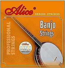 Alligator Alice Coated Copper Wound 5-String Banjo Strings Set