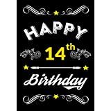 Happy 14th Birthday: Birthday Gifts for Men, Birthday Journal Notebook for 14 Year Old for Journaling & Doodling, Birthday Keepsake Book