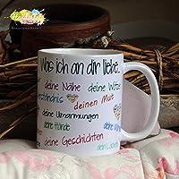 Kaffeebecher ~ Tasse - Was ich an dir liebe... ~ Valentinstag Geschenk