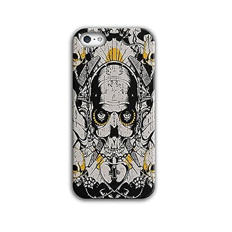 Armée Décès Guerre coold Crâne Médaillon Luxure 3D iPhone 5 / 5SÉtui Pour | Wellcoda