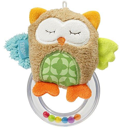 ng Eule / Greifling zum Rasseln, Fühlen, Spielen mit kuschelweicher Stoff-Eule, für Babys und Kleinkinder ab 0+ Monaten ()