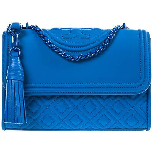 Tory Burch damen Fleming Schultertasche mediterranean blue