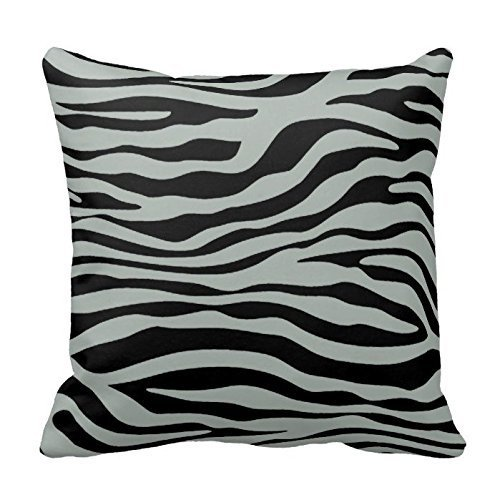 But why miss Ash Gray and Black Zebra Print Stripes Animal Print Throw Pillow Case Decor Cushion Cover 18x18 Inch Square Two Sides Pink Miss Zebra