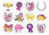 48 Mädchen Tattoo Pony | Pferde | Mitgebsel Pferdeparty | Ponyparty | Einmal-Tattoo´s | Kindertattoo