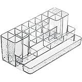 Interdesign 52950EU - Organizador de cosméticos para baño, color transparente