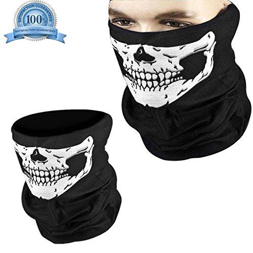 ke Schädel Maske Sturmmaske Totenkopf Skull Masken für Halloween Fahrrad Ski Paintball Gamer Karneval Kostü Wandern - Hmjunboys (Schwarz) (Die Besten Halloween-kostüme Für Familie 3)