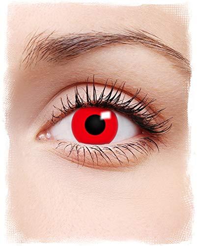 Horror-Shop Rote Teufels-Kontaktlinsen
