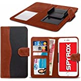 Spyrox - LG Xpower 2 (5.5 inch) Hochwertige Stoff Material Klemme Wallet Case in Brown and Black