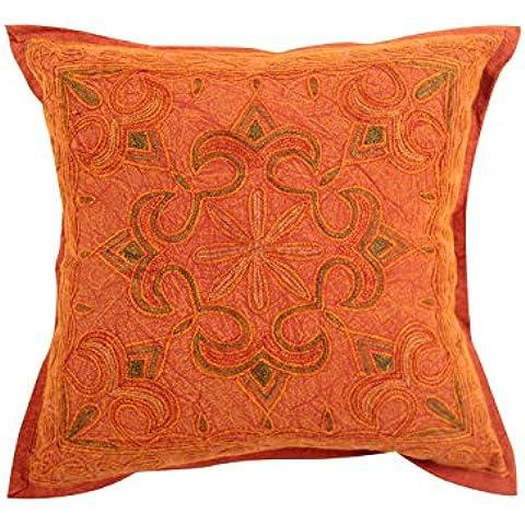 Decorativo rosso singolo attraente federe 16x16 damascato