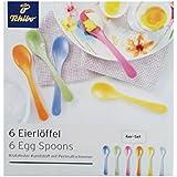 TCM Tchibo 6x cucharas para huevos de plástico kratzfestem Multicolor