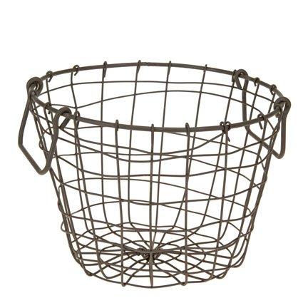 Zwiebellkorb Kartoffelkorb Erntekorb Dekokorb, Metall, rund, ca. Ø 26 x H 21 cm