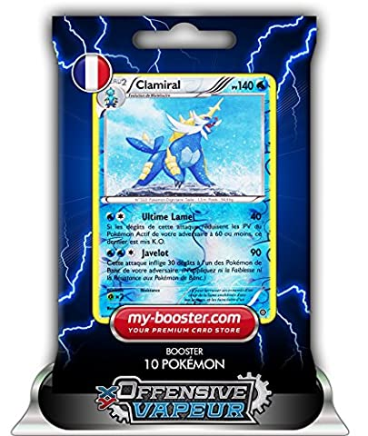 CLAMIRAL holo reverse 32/114 140PV XY11 OFFENSIVE VAPEUR - Booster de 10 cartes Pokemon francaises my-booster
