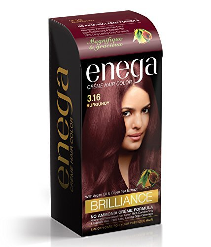 Enega brillo crema color de pelo Burdeos - 3,16