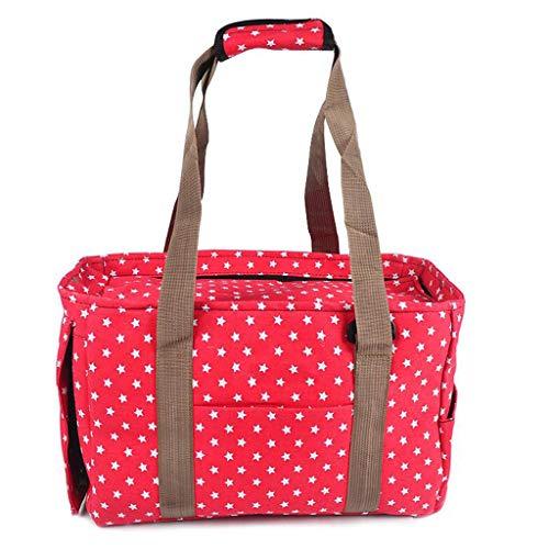 UU Transportboxen für Katzen Haustier-Pack Outgoing Portable Hund Rucksack Katze Pack Haustier Reisetasche (Farbe : Red)