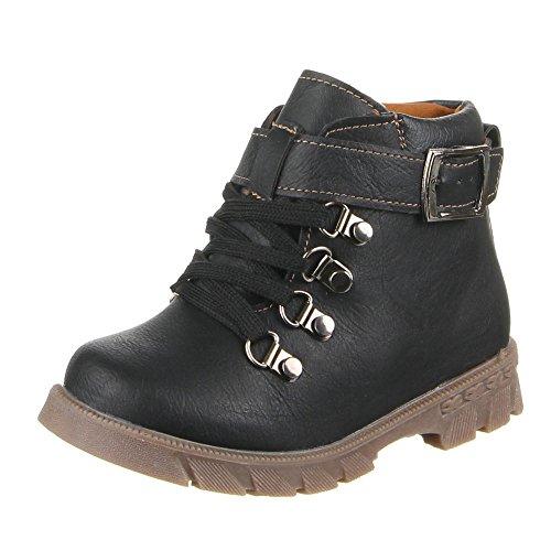 215 Schwarz Kinder Boots C Schuhe wXAnqTB