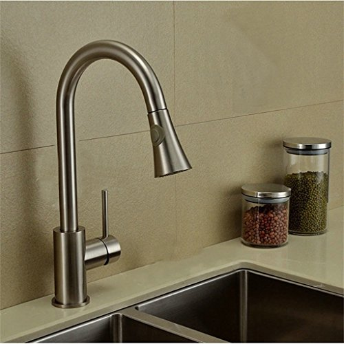 Preisvergleich Produktbild FHK-Hahn Ziehen Sie die Einhand - Sprinkler Küchenarmatur Waschbecken Mischbatterie Hahn Chrom - Free Real Messing Küchenarmatur