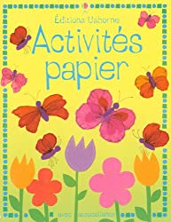Activités papier avec autocollants