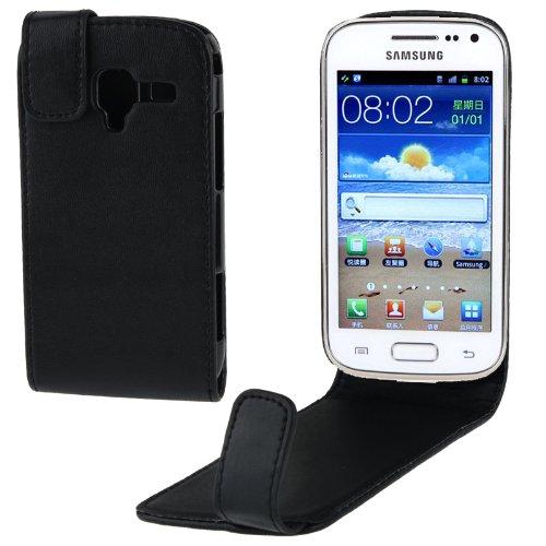 R-Tech24 Custodia In Pelle Flip Case Cover Per Samsung Galaxy Ace 2 i8160 Nero
