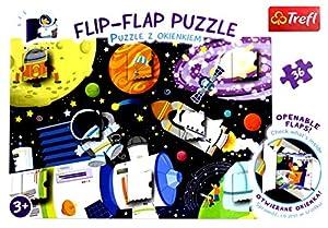 Flip-Flap Puzzle z okienkiem 36 Kosmos