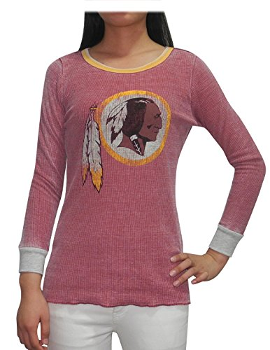 Cowboys Dallas Robe (NFL Washington Redskins Damen T-Shirt mit Rundhalsausschnitt (Vintage-Look) L)