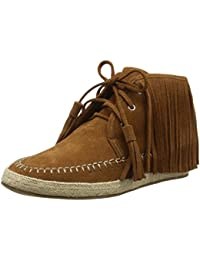 La Strada Tan Coloured Suede Boots With Frings - Botines Mujer