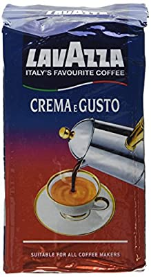 Lavazza Crema e Gusto Ground Coffee 250 g (Pack of 8)