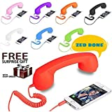 COCO PHONE Radiation Free Phone 3.5mm Jack Wired Retro Handset Receiver Compatible For All Smart Phones, Laptop, PC, IPad, Etc (assorted Color) And (Get Free Assured Gift With Every Purchase Of This Product From Zed Bone Only) - B07CCJH7GC
