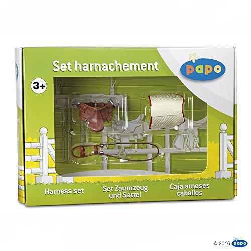 Papo 50091 Set Zaumzeug Und Sattel, Spiel