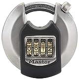 MASTER LOCK Candado Redondo Alta Seguridad [Combinacion] [Acero Inoxidable] [Exterior] M40EURDNUM - Ideal para Portales, Garages, Sótanos