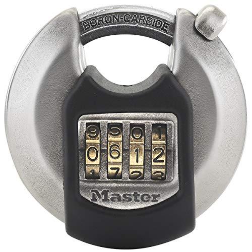 MASTER LOCK Candado Redondo Alta Seguridad [Combinacion] [Acero Inoxidable] [Exterior] M40EURDNUM ...