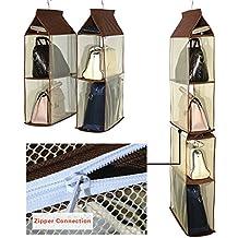 Staccabile 6 Scomparto Organizer Borsa Organizer per Armadio Trasparente  Borsa Bag Collection Sistema armadi 891aeec7ef5
