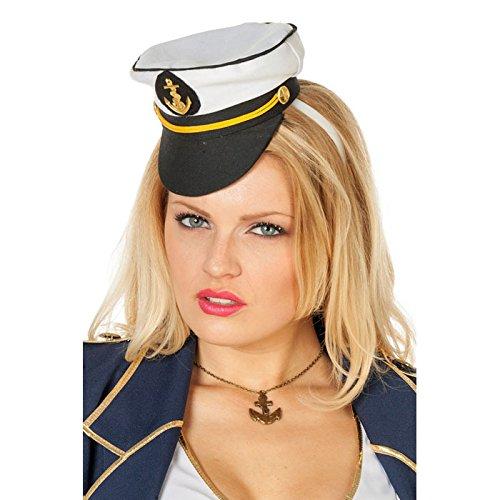 NEU Mini Kapitänsmütze mit Haarreif