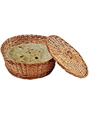 H M Services Bamboo Cane Chapati Basket