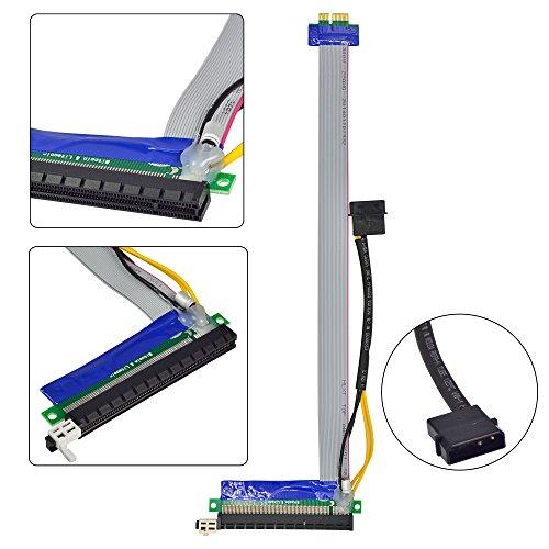 MENGS® PCI-E 1x Express16x Riser Karte Verlängerungs Kabel - 340mm