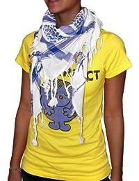 niki-orange® Pali Schal Dot, Tuch, Palästinenserschal, Arafat, in Weiß/Blau