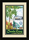 Northwest Art Mall ed-4081mfgdm STH Santa Cruz California Sun Truck Hula gerahmtes Wandbild Kunst von Künstlerin Evelyn Jenkins Drew, 33x 40,6cm
