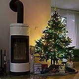 SnowEra 400er LED Lichterkette -Weihnachtsbeleuchtung für innen und außen mit zuschaltbarem Timer – perfekt für den Weihnachtsbaum |Tannenbaum – Lichtfarbe: bunt – Länge: ca. 50 m inkl. Zuleitung