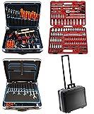 FAMEX 604-20 Trolley ABS Werkzeugkoffer Komplettset Top-Qualität mit 174-teiligem Steckschlüsselsatz