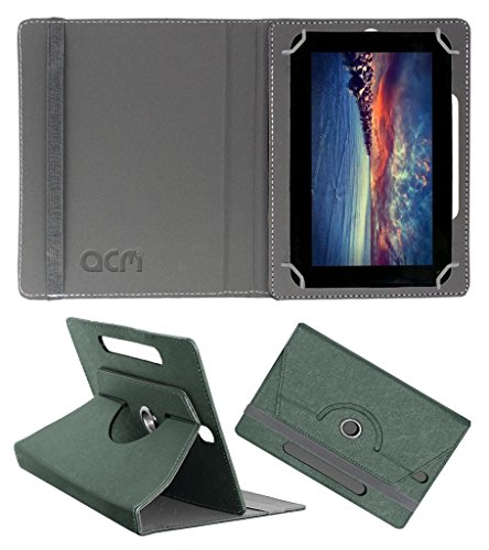 Acm Designer Rotating Leather Flip Case for Zync Dual 7i Cover Stand Grey  available at amazon for Rs.169