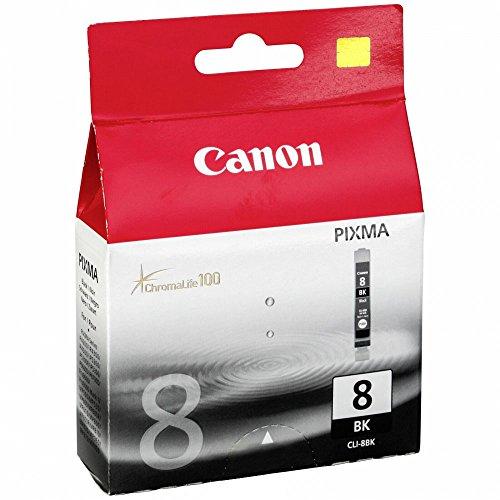 Canon No. 8 Black Ink Cartridge (Chromalife 100 Inks, CLI-8BK)