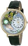 Drollige Uhren Hase Baby Blau und silberfarben, Unisex Armbanduhr Analog Leder S-0110008