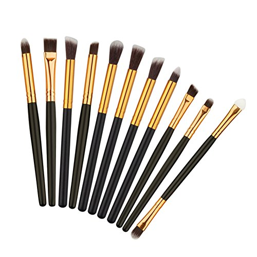 JIE 11pcs Brush Set ombre à paupières pinceau sourcils brosse Eyeliner pinceau de maquillage